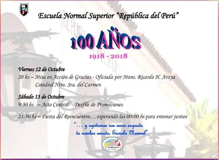 Festejos Del Centenario Escuela Normal Superior República